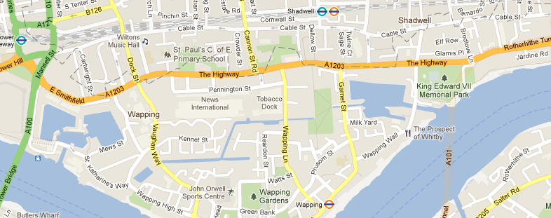 24/7 Minicab & Chauffeur Service in Wapping & surrounding areas.